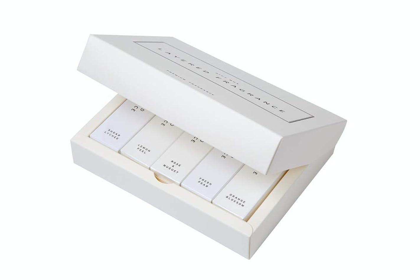 不名誉な非アクティブ移行するレイヤードフレグランス ボディスプレー ミニサイズ 5本ギフトセット(BOX付) LAYERED FRAGRANCE BODY SPRAY MINI SIZE GIFT SET with GIFT BOX