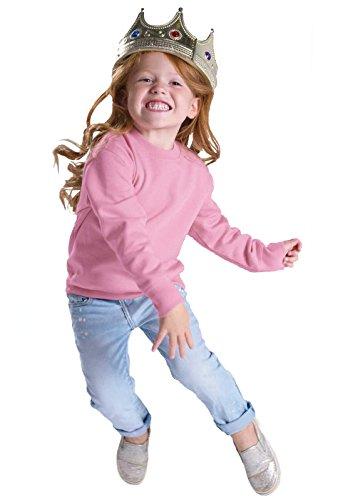 Rabbit Skins Toddler Fleece Long Sleeve Pullover Sweatshirt (Pink, 2 Toddler)