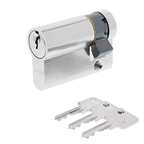 ToniTec Set aus einem Abus Türschloss Schließzylinder C83 + ToniTec Schloss Pflegespray Halbzylinder 10/40 mm