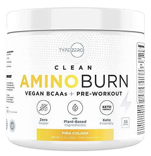 AminoBurn - Natural Pre Workout + Vegan BCAA (Piña-Colada | 30serv)...