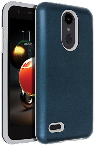 SENON Slim-fit Shockproof Anti-Scratch Anti-Fingerprint Protective Cover Case for LG Aristo 2 / Aristo 3 / LG Zone 4 / Tribute Dynasty/Fortune 2 /Risio 3 / K8 2018/ K8+ / K8 Plus,Blue