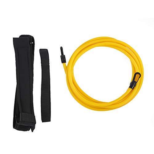 Solomi Ceinture de Taille, Nylon Swiming Training Set Resistance Belt Strap Band pour Les apprenants de Natation(6 * 9 * 3m-Jaune)