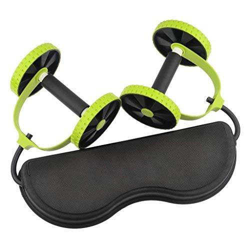 SHYPT Rueda del músculo Abdominal, Doble AB Roller Rueda de Fitness Ejercicios Abdominales Equipo Cintura Que Adelgaza Entrenador al Gimnasio en casa (Color : A)