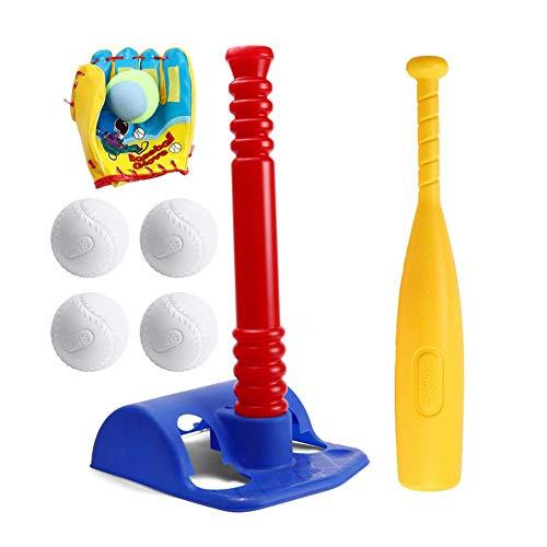 FORYOURS Kinder Baseballschläger Set Mini Kinder Griffe T-Ball Set Soft Practice Baseballs Set Tee Baseball Kinder Sport Fitness Training Spielzeug für den Innen- und Außenbereich