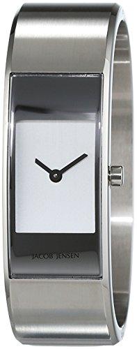 JACOB JENSEN Damen Analog Quarz Uhr mit Edelstahl Armband Eclipse Item NO. 460
