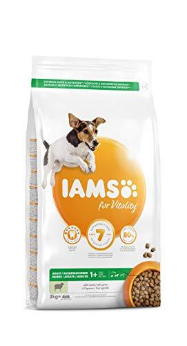 Iams for Vitality - alimento Secco per Cani Adulti di Taglia Piccola e Media con Agnello - 3 kg