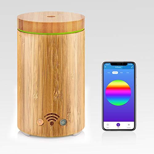 Duftöldiffusoren Aroma Diffuser 160ml Ätherische Öl Ultraschall Duftlampe Luftbefeuchter Kompatibel mit Alexa und Google Home WiFi APP Steuerbar Timer Funktion 7-LED-Farbe