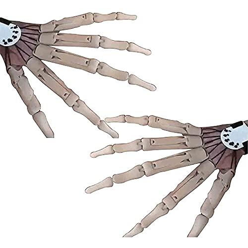 Dedos para joint, manos esqueletos de Halloween, dedos portátiles con impresión 3D, dedos Articulados de Halloween, garra de mano de esqueleto, mano de esqueleto de plástico