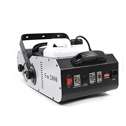 1500W Mehrwinkel-DMX-Bühnenrauchmaschine, DMX Nebelmaschine Nebel Effektmaschine Bühnenlicht Rauch mit Fernbedienung
