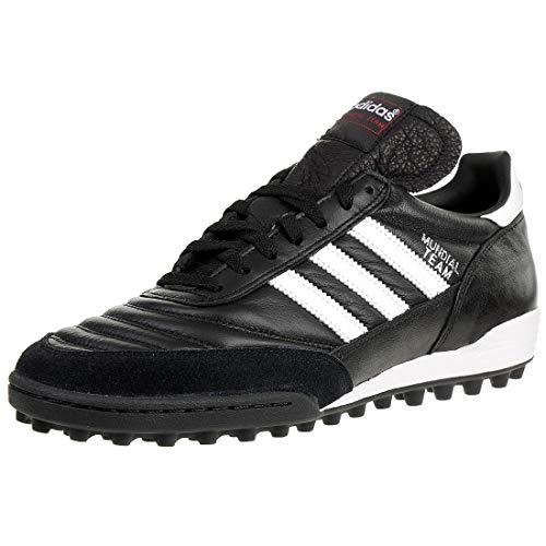 adidas Originals Mundial Team, Botas de fútbol Unisex Adulto, Black/Running White FTW/Red, 42 2/3 EU