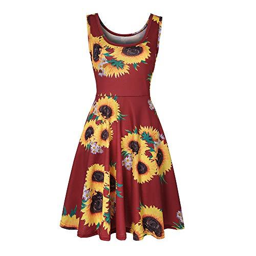 JCHL-Hot Damen Rundhals ärmelloses Kleider für Lässiger und Trendiger Stil für Sommer Partykleider Brautkleider und Alltag