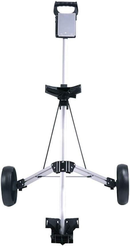 2 Wheel Golf Push Spring new work Cart Compac Trolley half Foldable Lightweight