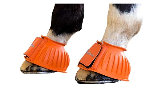 Shires ARMA Touch Close Over Reach Boots Pony Orange