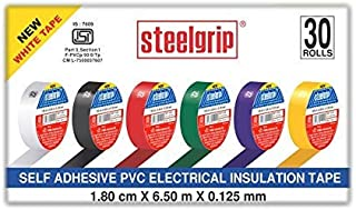 Pidilite Steelgrip Self Adhesive PVC electrical Insulation Tape - Pack of 30 Assorted Rolls (6.50m Each)