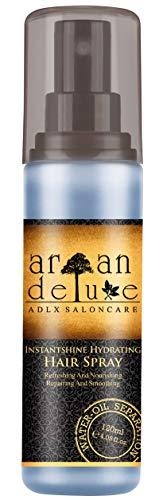 Argan Deluxe -Feuchtigkeitsspray in Friseur-Qualität 120 ml - hochwirksam entwirrende Pflegeformel für Geschmeidigkeit & Glanz