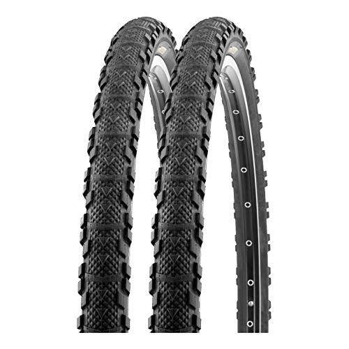 P4B | 2X 26 Zoll ATB Fahrradreifen | All - Terrain - Bike-Tires | 26 x 1.95 | 50-559 | Fahrrad Mantel | in Schwarz