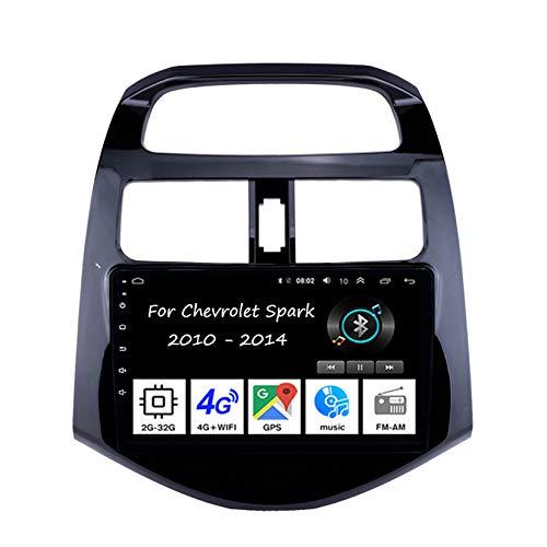Autoradio Mit Navi Apple Carplay 9 Inch Pantalla Tactil para Coche Reproductor para Chevrolet Spark 2010-2014 4 Cores 2G+32G Radio del Coche Car Player Conecta Y Reproduce Coche Cámara Trasera