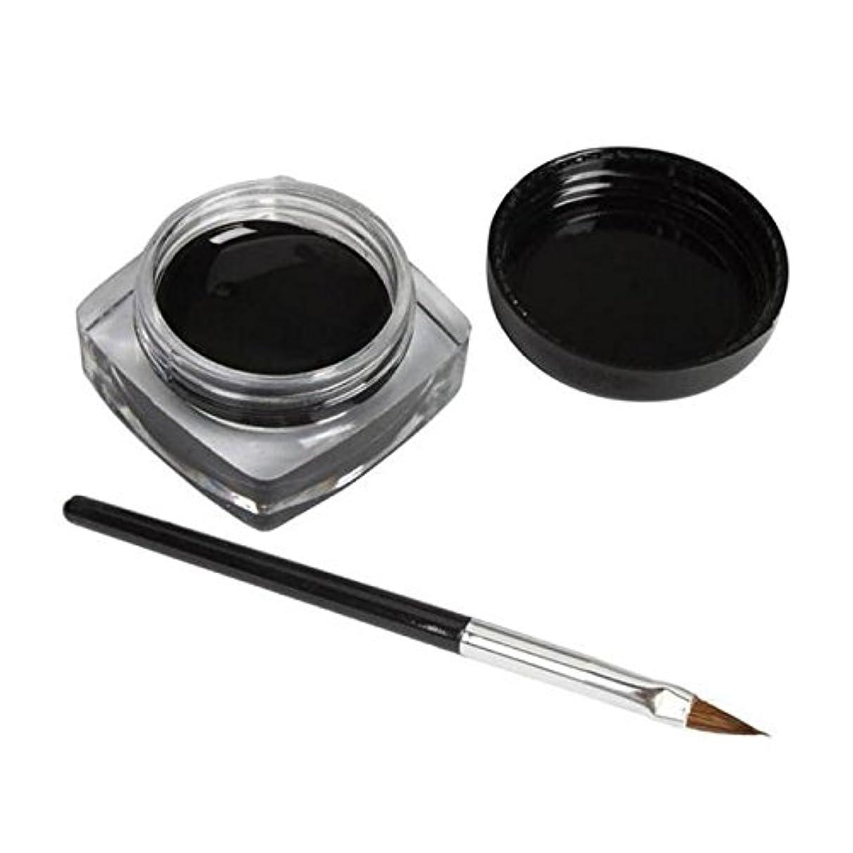 磁石さびた複製する2 PCSミニアイライナージェルクリームブラシメイクアップ化粧品ブラックライフ防水