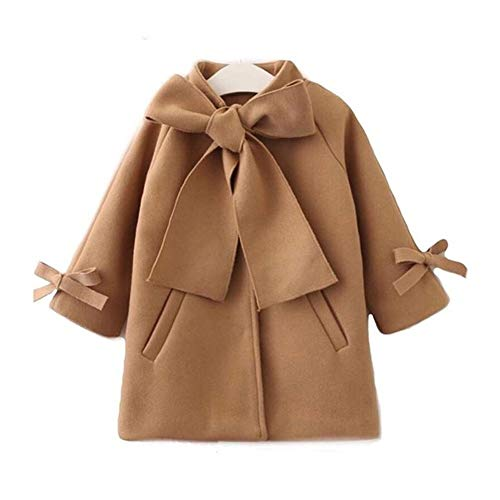 Wolljas, herfst, jongens, meisjes, schattige jas, voor jongens en meisjes, met bowknot warme wollen luier voor baby's, prinses in de winter, outwear