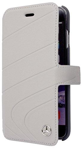 Mercedes Piel Book Type Funda para Apple iPhone 7Plus Classic