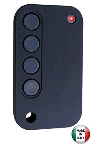 Telecomando radiocomando universale 433 Mhz duplicatore codici fissi e rolling code sullo stesso telecomando in autoapprendimento (nero)