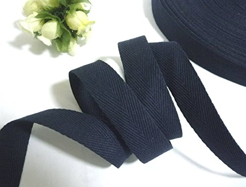 "Twill Tape 1"" Size 100% Cotton Black Color (50 Yard)"
