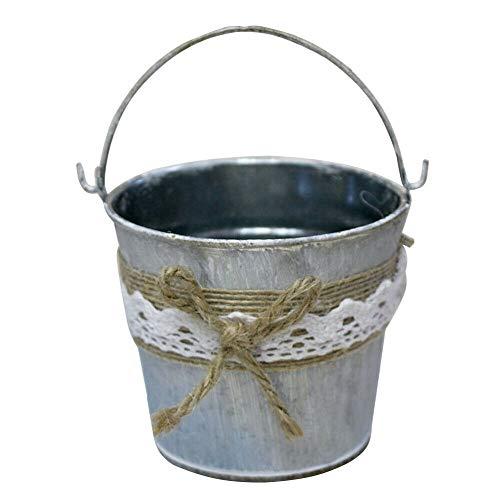 NATFUR 1pc Flower Bucket Vintage Iron Succluents Plants Flower Crafts Pot Bucket Holder