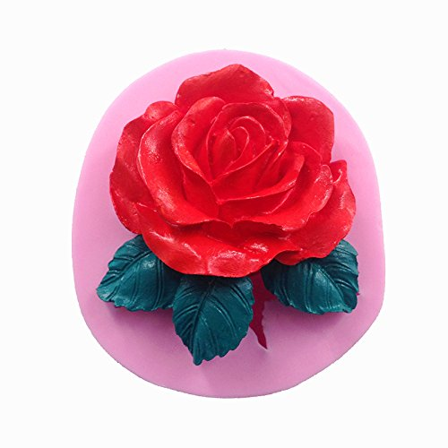 Moules À Gâteau En Silicone 3D Grand Rose Fleur Moule Fondant Décoration Outils Savon Bougie Moule