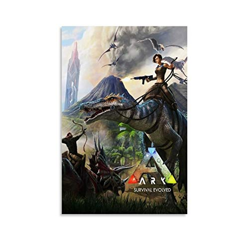 BAOKUAN Ark Survival Evolution Leinwand-Kunst-Poster und Wandkunstdruck, modernes Familienschlafzimmer, 20 x 30 cm