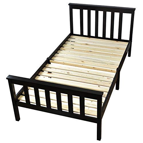 DORIS ベッド ベッドフレーム すのこベッド セミダブル フィンランド産天然木使用 耐荷重約120kg 組立式 ブラック ブラン SD