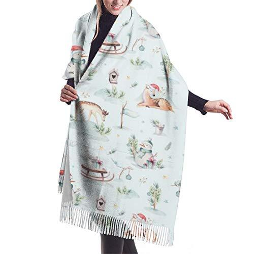 Bufanda grande de cachemira suave para mujer, chal elegante