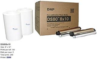DNP DS808x 10pulgadas dyesub Impresora Media Kit 260Impresiones brillantes