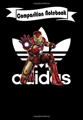 Composition Notebook: Adidas MCU Iron Man Marvel, Journal 6 x 9, 100 Page Blank Lined Paperback Journal/Notebook