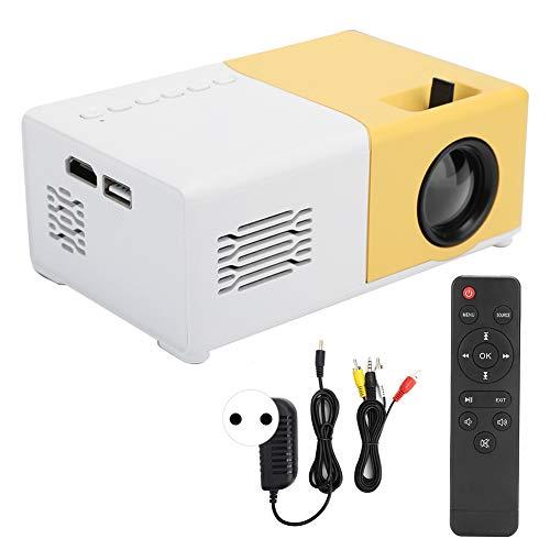 Sxhlseller Proyector de Video LED de 24-60 Pulgadas, Mini proyector portátil HDMI 1080P 1080P Full HD USB AV Control Remoto para niños domésticos(EU)
