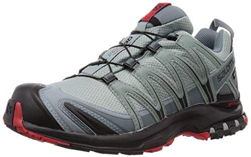 Salomon Men's Trail Running Shoes, XA Pro 3D GTX, Lead/Black/Barbados Cherry, Size: 6.5