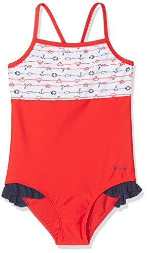 Sterntaler Baby-Mädchen Badeanzug Einteiler, Rot (Feuerrot 807), 80