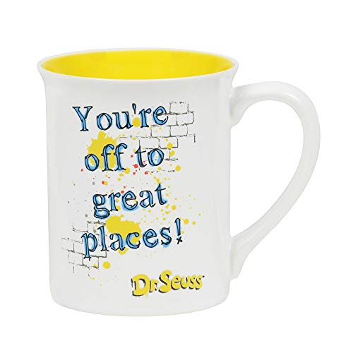 """Enesco Dept 56 Dr. Seuss """"You're Off to Great Places"""" Stoneware Mug ~ 16 Ounce"""