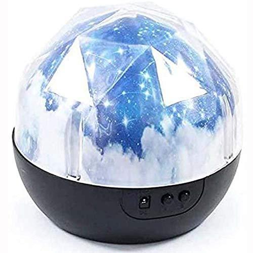 BBRR Nachtlicht, Sterne Himmel Nacht Projektion 360-Grad-Drehung Beleuchtung 3 Modi Himmelslampenprojektor, Kinder Freunde Frauen,A