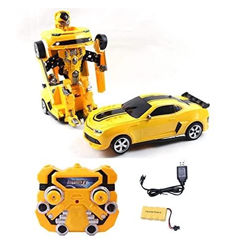SXLCKJ RC Transform Car Robot Toys 2.4GHZ Coche de Robot de deformación a Control Remoto 2 en 1 Coche de Carreras eléctrico RC 360 & deg;Rotat (Coche Inteligente)