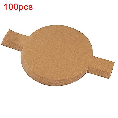display08 100 Stück Rundes Silikonbrot Snack Kuchenform Dampfgarer Papiermatte Küche Kochen Backwerkzeug