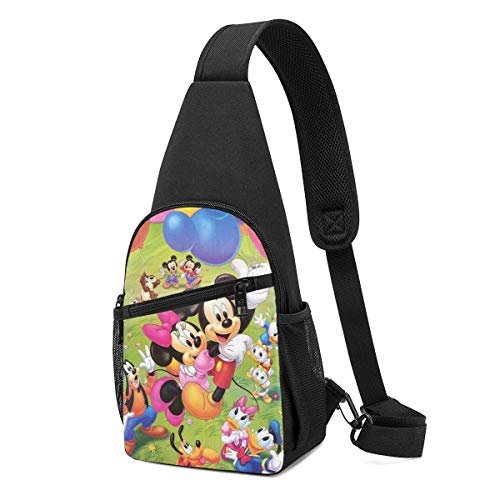 Boweike Sling Backpack Casual Mickey and Friends Crossbody Daypack Shoulder Bag Chest Bag Rucksack