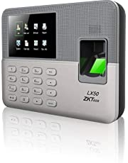 ZKTeco Biometric Fingerprint Time Attendance Clock Employee Checking-in Recorder with Build-in SSR Excel Software (Silver)