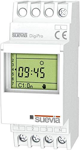 Suevia Zeitschaltuhr für Hutschiene 1 St. DigiPro Schaltspannung (max.): 250 V/AC Schaltstrom (max.