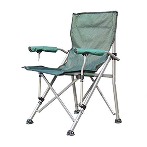 XYZMDJ Supporto Camping Sedia ergonomica Schienale Alto con la Sedia del Braccio Sedia Pieghevole Sedia da Giardino Heavy Duty Pieghevole