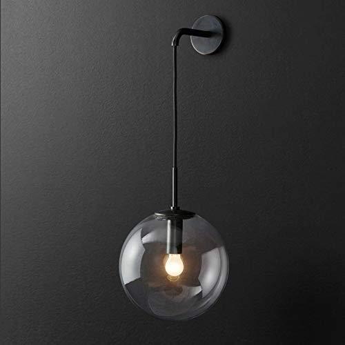 Wandlamp Moderne minimalistische hangende draad glazen bal hardware wandlamp Nordic creatieve huis gang balkon decoratie led-verlichting 15 * 50 cm