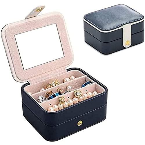 Cebknw Boîte à Bijoux en Cuir de Cuir PU PU, boîte de Rangement à colons, Petite boîte de Rangement de Bijoux
