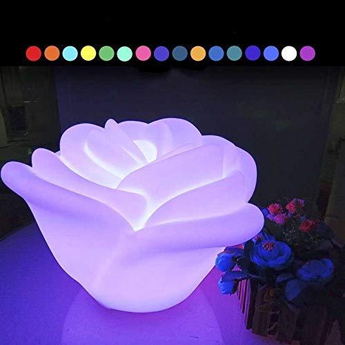 16RGB Changement de Couleur LED Night Light Rose Flower Lampe de Table 4 Modes extérieur étanche Lumière Jardin for Chambre de soirée de Mariage de Noël Chambre Étude Veilleuse