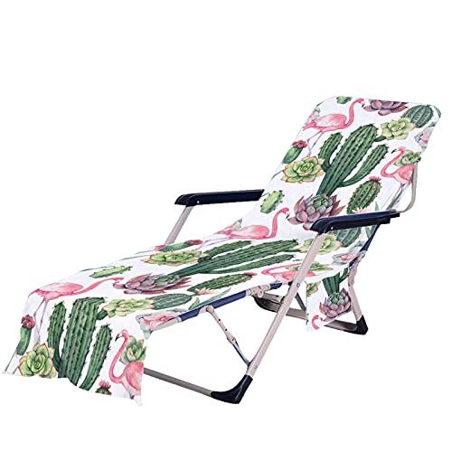Stillshine. Portatile Asciugamano Mare, Fodera per Sedie da Giardino,Tropicale Pianta Colorato Cactus Fiori Modello Telo Mare,per Spiaggia Hotel Giardino Piscina (Colore 1,75 × 210 cm)