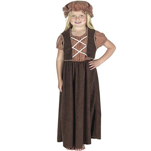 Girl - Disfraz de campesina para niña, talla 140 cm (252237)