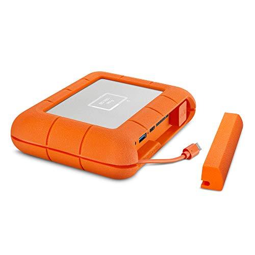 LaCie Rugged Boss SSD de 1 TB - Unidad de Estado sólido, USB-C USB 3.0 con Ranuras de Tarjeta SD Tarjeta CF, Resistente a caídas, Impactos, Polvo y Agua (STJB1000800)